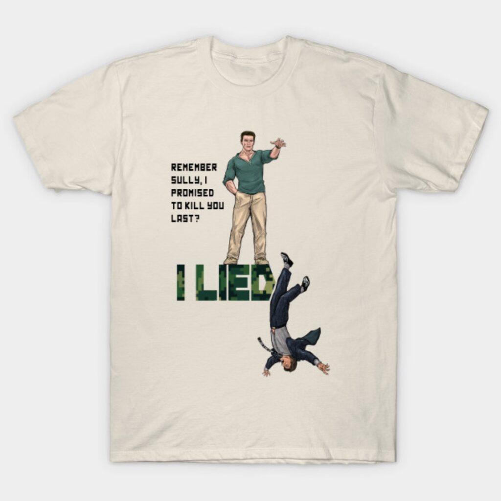 Arnold Schwarzenegger John Matrix I Lied T-Shirt