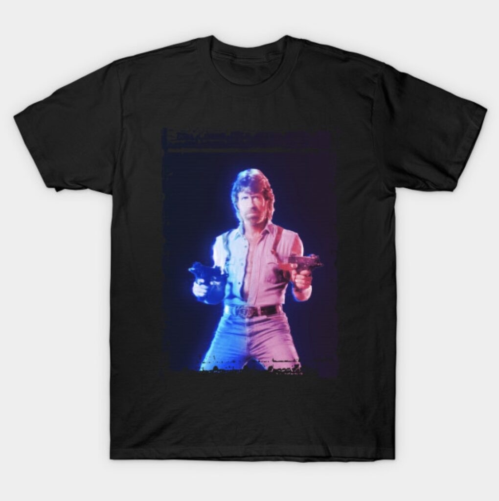 Chuck Norris Retro Art T-Shirt